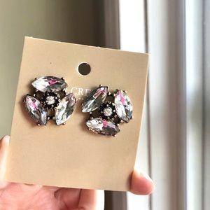 JCrew Large Trio Crystal Stud Earrings